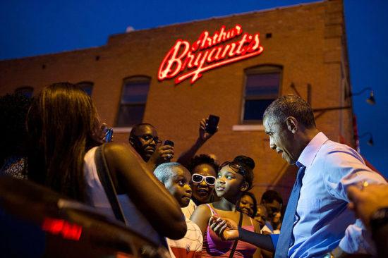 Obama at Bryant's